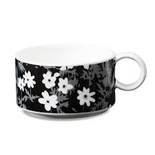 design letters vintage flowers cup in the shop