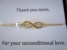 infinity bracelet for motherthank you momunconditional love
