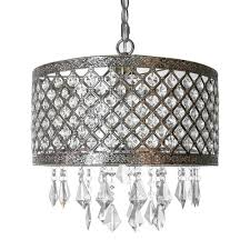 Silver Chandelier River Of Goods 1 Light Silver And Chandelier With Lattice