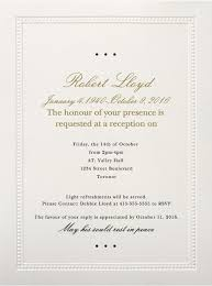 wedding invite verbiage 39 best funeral reception invitations lives on