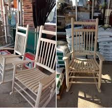 Oak Rocking Chairs Single Item With Sidebar