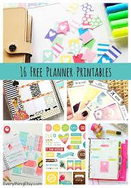 printable calendar 2016 etsy 16 free planner printables everythingetsy com