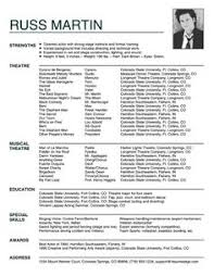 Sample Acting Resume For Beginners by Acting Resume Sample No Experience Http Www Resumecareer Info