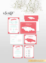 Wedding Invitations And Rsvp Cards Coral Reef Beach Destination Wedding Invitation Rsvp Cards