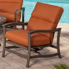 Agio Patio Furniture Cushions Agio Majorca Outdoor Rocker Chair With Cushion And Cast