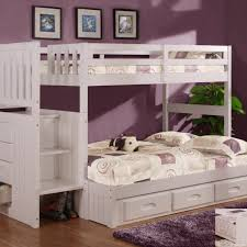 Staircase Bunk Beds Twin Over Full by White Stair Stepper Twin Over Full Bunk Bed Discovery Furniture
