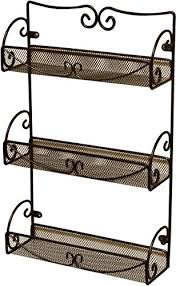 Wall Mount Spice Racks For Kitchen Decobros 3 Tier Wall Mounted Spice Rack Kitchen Pantry Organizer