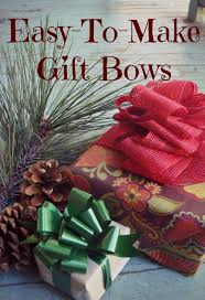 christmas gift bows easy craft bows in only three steps handmade christmas gifts
