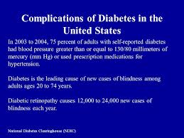 Diabetes Causing Blindness Diabetes The Epidemic Of The 21st Century A Managed Care
