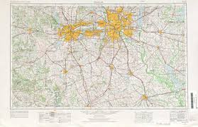 Dallas Area Map Dallas Topographic Maps Tx Usgs Topo Quad 32096a1 At 1 250 000