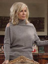 ashley s hairstyles from the young and restless wornontv ashley s grey cold shoulder sweater on the young and the
