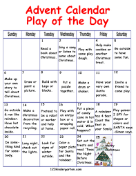 advent play of the day calendar 1 2 3 kindergarten