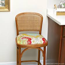 How To Make Bar Stools Cane Back Bar Stool And That Fabric Again Petticoat Junktion