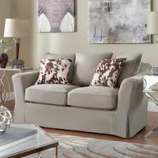 homesullivan sydney 1 piece grey down filled slipcovered sofa