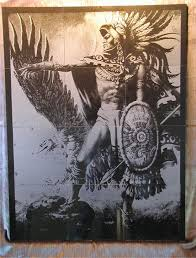 aztec warrior tattoo design on back