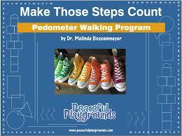 Pedometer Map Pedometer Walking Program Training Peaceful Playgrounds