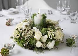 how to make a christmas floral table centerpiece table centerpiece with wreath of white flowers and greenery