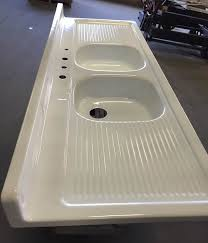 Kitchen Sink With Built In Drainboard by Reporcelain Refinish Steel Sinks Stoves And Other Vintage Parts