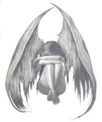 sad angel anime drawings in pencil sad angel beautiful sad