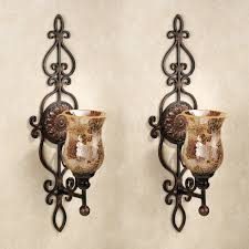 home interiors sconces st 2 tuscan scroll mediterranean wall sconce candle holders