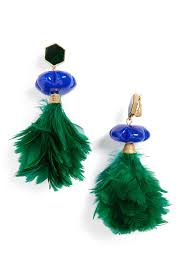 tory burch feather drop earrings nordstrom