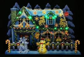 illuminated christmas home lights u0026 melody pop up greeting card