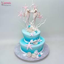 seahorse cake topper seahorse in wedding cake yeners way