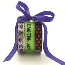 halloween grosgrain ribbon halloween bundle pack skull and crossbones