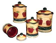 apple kitchen canisters apple canisters ebay
