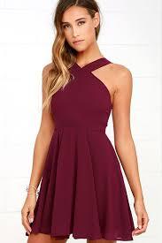 forevermore burgundy skater dress skater skirt bodice and neckline