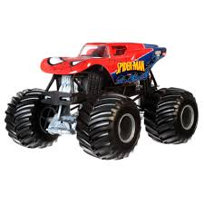 monster jam all trucks wheels monster jam spider man vehicle walmart com