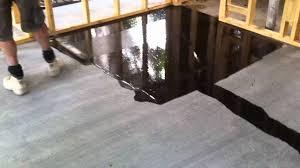 Sealant For Laminate Flooring Concrete Flooring Full Gloss Sealer Youtube