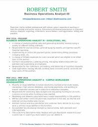 Cash Application Resume Business Operations Analyst Resume Samples Qwikresume