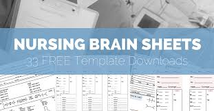 Nursing Report Sheet Template Free The Nursing Brain Sheet Database 33 Report Sheet