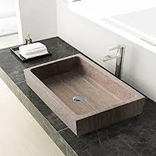 stone vessel sink amazon rectangular vessel sink awesome maykke lehi 24 inch bathroom stone
