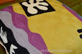 Gold Bed Cushions Matisse Yellow Pillow Cover Cut Outs I Flower Wool Hand