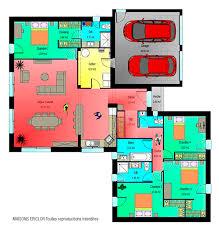 plan maison en l plain pied 4 chambres plan maison moderne 4 chambres great interieur maison plain pied