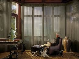 sophisticated remote control blind for large window treatment in