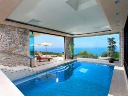 Interior Swimming Pool Houses Modern Indoor Pool With Ocean View Saved From Http Www