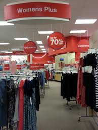 target plus size clothes replaced by clearance items but not