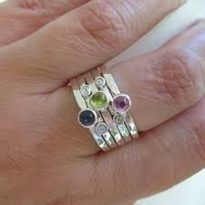 stacked birthstone rings personalized sted mothers stacking rings with birthstones