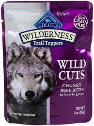 blue buffalo wilderness trail toppers chunky beef bites dog food