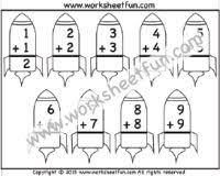 addition u2013 single digit u2013 1 worksheet kindergarten worksheets