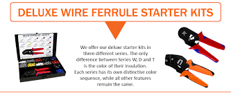 deluxe starter kits single insulated and twin wire ferrules at