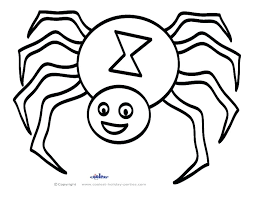Spider In Web Coloring Page Cute Baby Spiders Pages Printable Web Coloring Pages