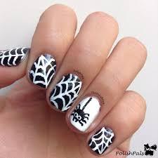 polish pals spiderweb nail art tutorial