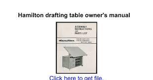 Hamilton Vr20 Drafting Table Hamilton Drafting Table Owner U0027s Manual Google Docs