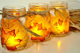 jar candle ideas autumn leaf jar candle holder