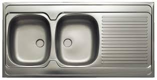 evier cuisine brico depot évier à poser inox 2 cuves brico dépôt