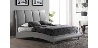 Leather Platform Bed 8272 Gr Leather Grey Platform Bed Global Furniture